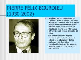 PIERRE FÉLIX BOURDIEU (1930