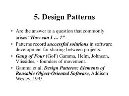 5. Design Patterns - KTH   Skolan för
