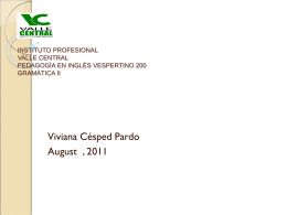INSTITUTO PROFESIONAL VALLE CENTRAL PEDAGOGÌA EN