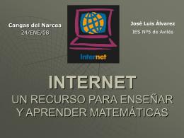 INTERNET UN RECURSO PARA ENSEÑAR Y APRENDER