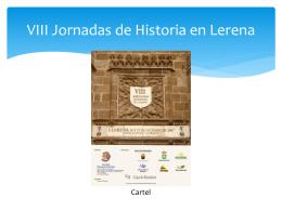 VIII Jornadas de Historia en Lerena