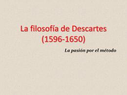 La filosofía de Descartes