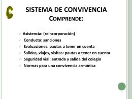 SISTEMA DE CONVIVENCIA