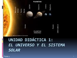 Unidad didáctica 1: El universo y el sistema solar