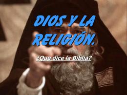 Dios y La Religión.