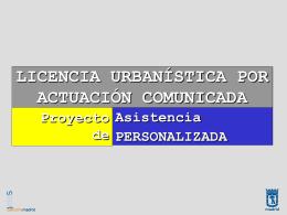 Licencia Urbanística por Actuación Comunicada