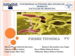 Fiebre Tifoidea Caso clínico, estudio