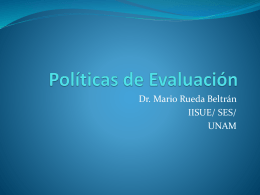 Políticas de Evaluación