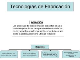 Tecnologías de Fabricación