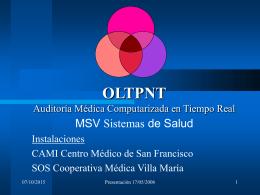 OLTPNT Auditoría Médica Computarizada en Tiempo