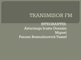 TRANSMISOR FM - Ingeniería de Telecomunicaciones |