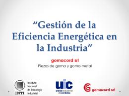 Gestión de la Eficiencia Energética en la