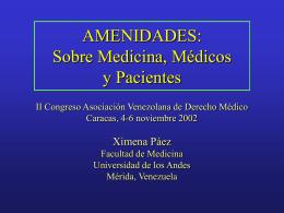 AMENIDADES: Sobre Medicina, Médicos y Pacientes