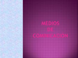 Medios de cominicación