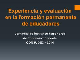 Experiencia y evaluación en la formación