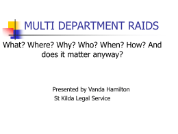 Multi Department raids-Vanda Hamilton