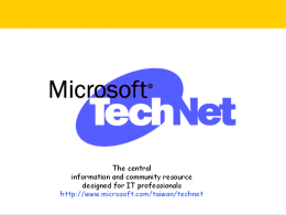 TechNet Event Session