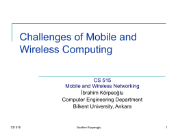 Introduction, History, Overview of Wireless