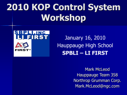 2010 Control System Workshop