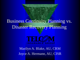 Emergency Preparedness - Telcom Insurance Group