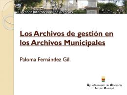 Los Archivos de gestión en los Archivos