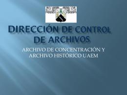 PRESENTACIÓN DE LA DIRECCIÓN DE CONTROL DE