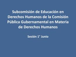 Subcomisión de EDH de la Comisión Pública