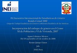 IX Encuentro Internacional de Estadísticas de