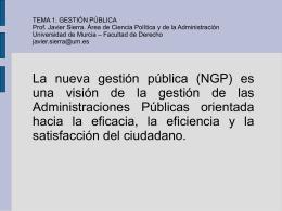 La nueva gestión pública (NGP)