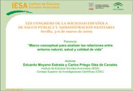 XIII CONGRESO DE LA SOCIEDAD ESPAÑOLA DE SALUD