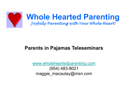 Whole Hearted Parenting Joyfully Parenting with