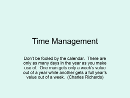 Time Management - Greenville Technical College