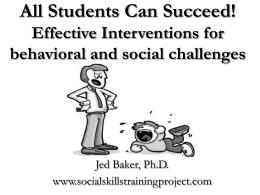 Social Skills Program - Westwood Regional School