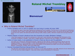 Roland Michel Tremblay - Bio