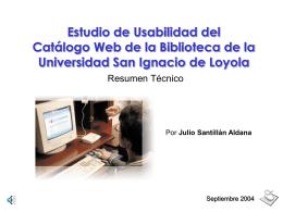 Estudio de Usabilidad del Catálogo Web de la