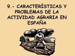 8.- CARACTERÍSTICAS Y PROBLEMÁTICAS DE LA
