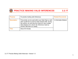 3.2.1T Practice Making Valid Inferences