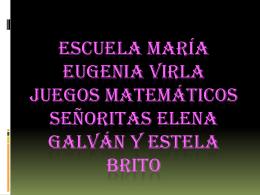 ESCUELA MARÍA EUGENIA VIRLA