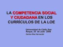 EDUCACION PARA LA CIUDADANIA Y PROYECTO EDUCATIVO