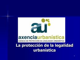 La disciplina urbanística en Galicia