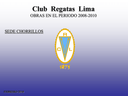 "Diapositiva 1 - Club de Regatas ""Lima"""