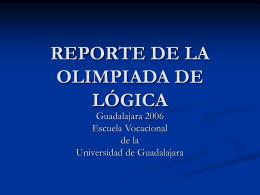 REPORTE DE LA OLIMPIADA DE LÓGICA