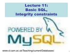 Lecture 06 of IB Databases courses