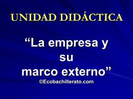UNIDAD DIDÁCTICA - ecobachillerato.com