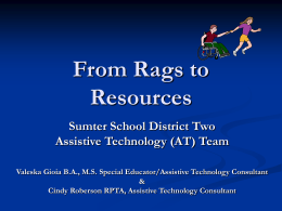 Sumter School District Two Assistive Technology