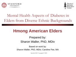 Hmong-American Elders