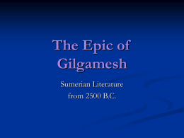 The Epic of Gilgamesh - Partain`s English Class