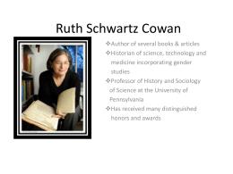 Ruth Schwartz Cowan