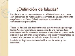 ¿Definición de falacias?
