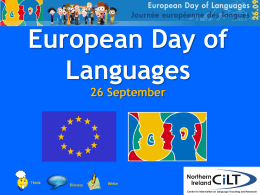 European Day of Languages 26 Sep
